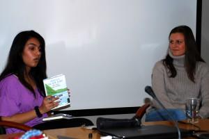 Helga Flatland intervjues på lærerseminar