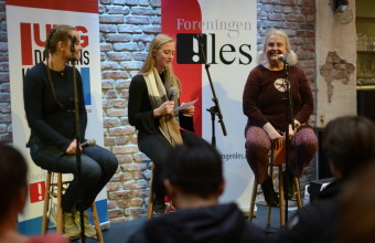 Elever fra Hamar katedralskole intervjuer Gro Dahle