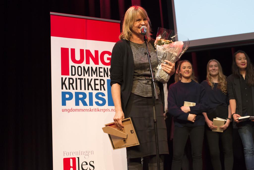"""Vinner: Nina Lykke fikk i dag Ungdommens kritikerpris for romanen """"Nei og atter nei"""". Foto: Vibeke Røgler/Foreningen !les."""