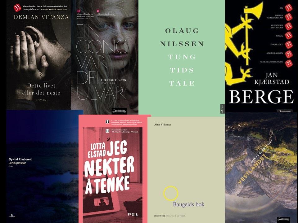Nominert: Dette er de nominerte bøkene til Ungdommens kritikerpris 2018. Nominasjonsjuryen har bestått av kritikerne Eivind Myklebust, Birgitte Bjørnøy og Kristian Wikborg Wiese.