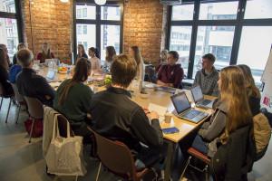 Storjuryen: Den avgjørende diskusjonen i Oslo. Foto Vibeke Røgler
